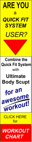Quick Fit System and Ultimate Body Sculpt workout chart