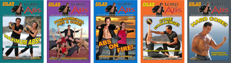 Lord of the abs - all 5 DVDs